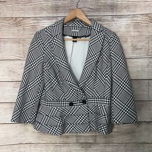 White House Black Market Black White Blazer Jacket